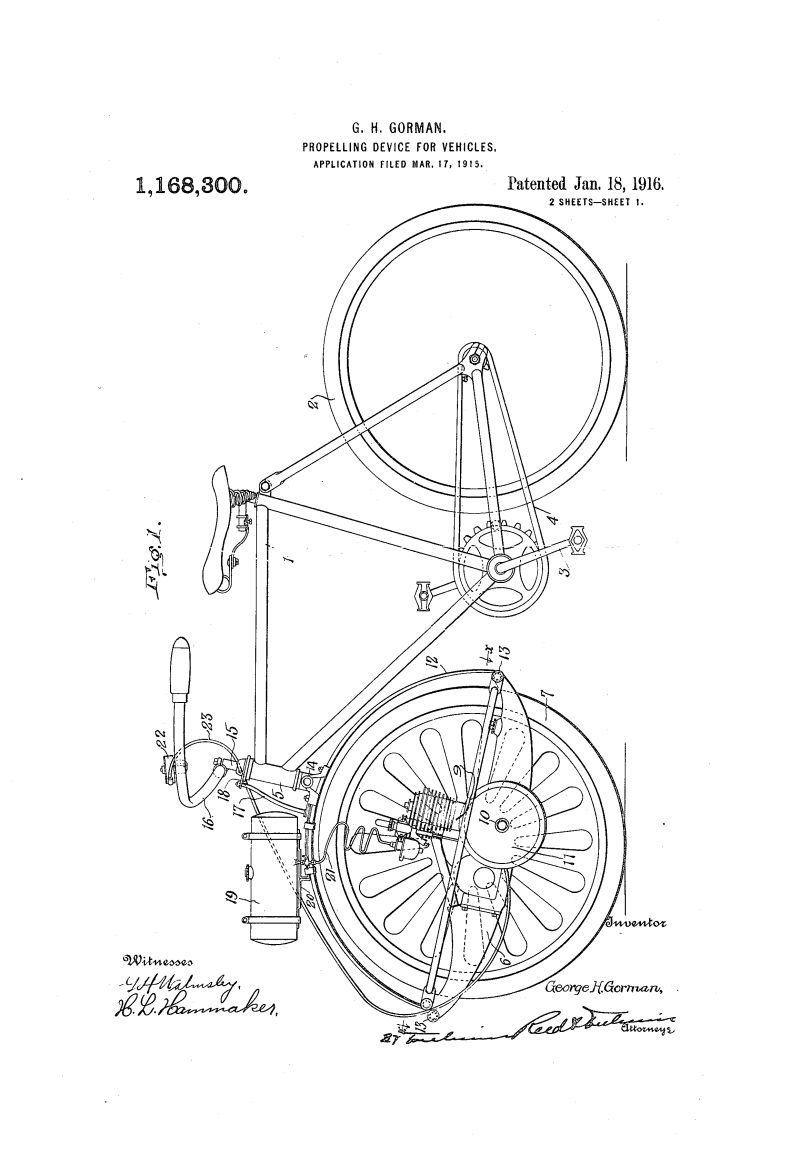 1916 Patent Dayton Motor Bicycle Daves Vintage Bicycles Diagram And Parts List For Sears Bicycleparts Model