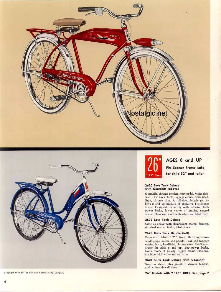 1955 Huffy - Customliner Catalog - Picture #2 - Dave's