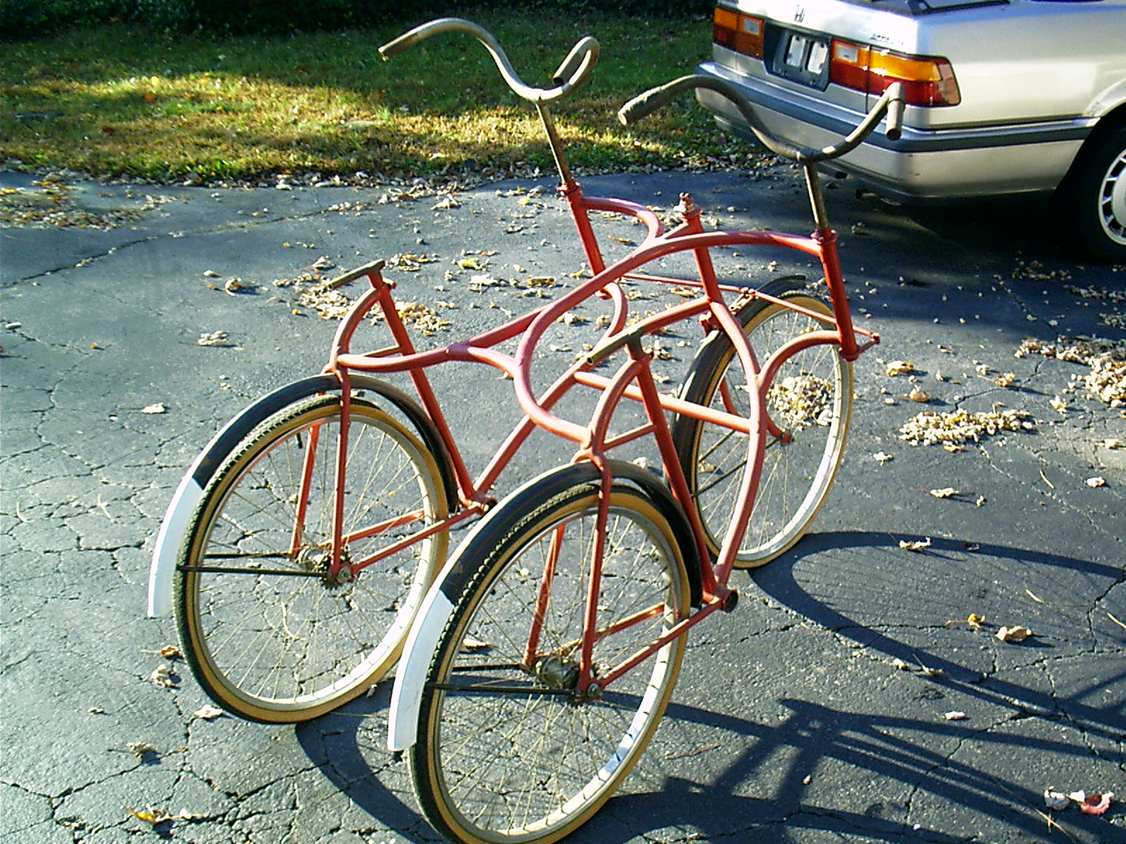 1890's Wolff American Side by side tandem bicycle - Picture #2