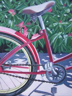 bicycle paintings/85311-bicycle_with_rhodedendrons.jpg