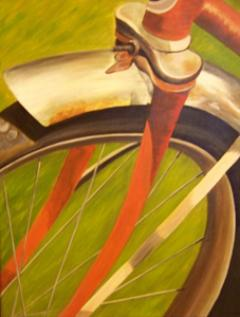 bicycle paintings/85311-orange_bicycle_front_wheel.jpg