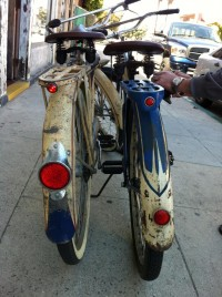 1940 Schwinn Ace and Henderson - rear