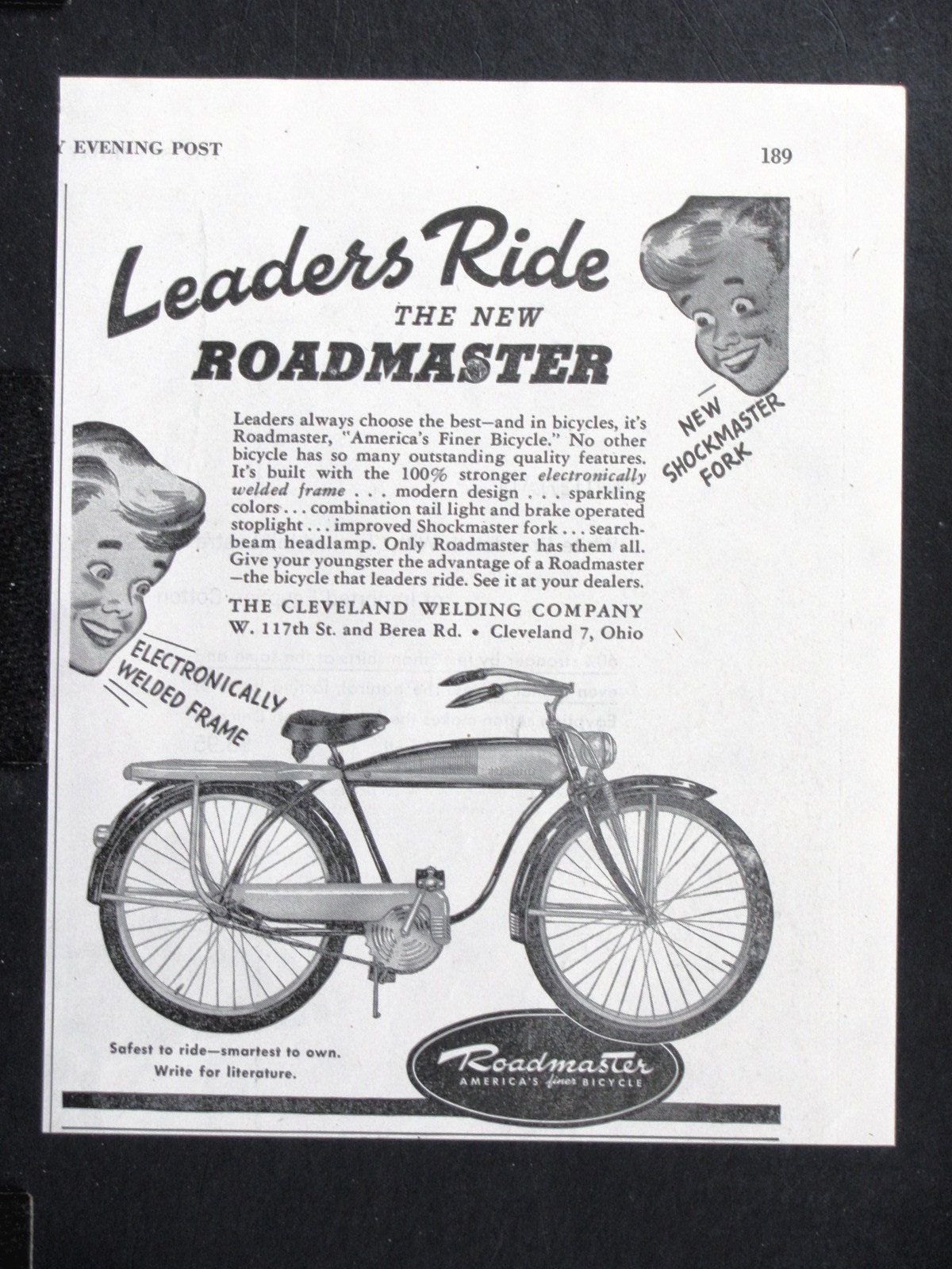 1947 Roadmaster Luxury Liner Ad Dave S Vintage Bicycles