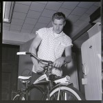 photo - 1960 kid with new Gambles Hiawatha bicycle
