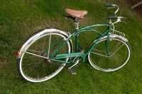 My 1955 Schwinn Corvette - rear 3/4 view