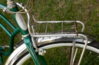 My 1955 Schwinn Corvette - front carrier and badge detail