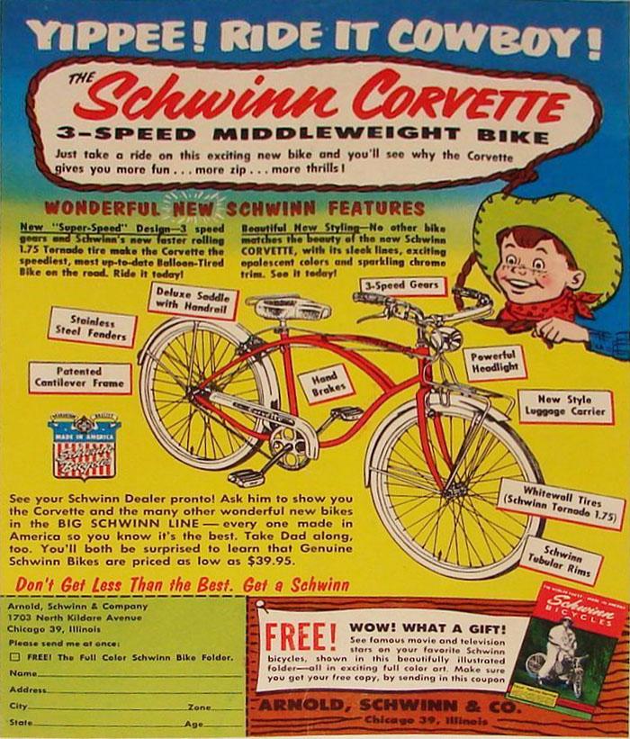 ad - 1955 Schwinn Corvette