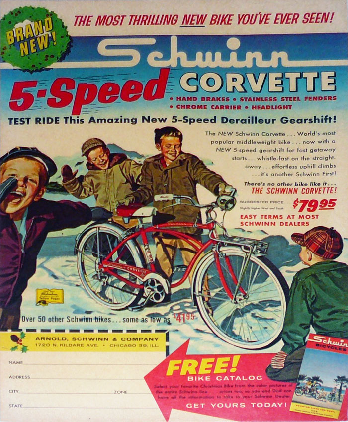ad - 1962 Schwinn Corvette 5-speed