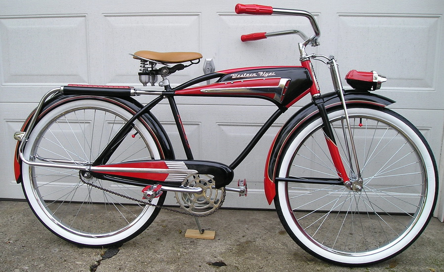 1955 Western Flyer X 53 Super Deluxe Dave S Vintage Bicycles