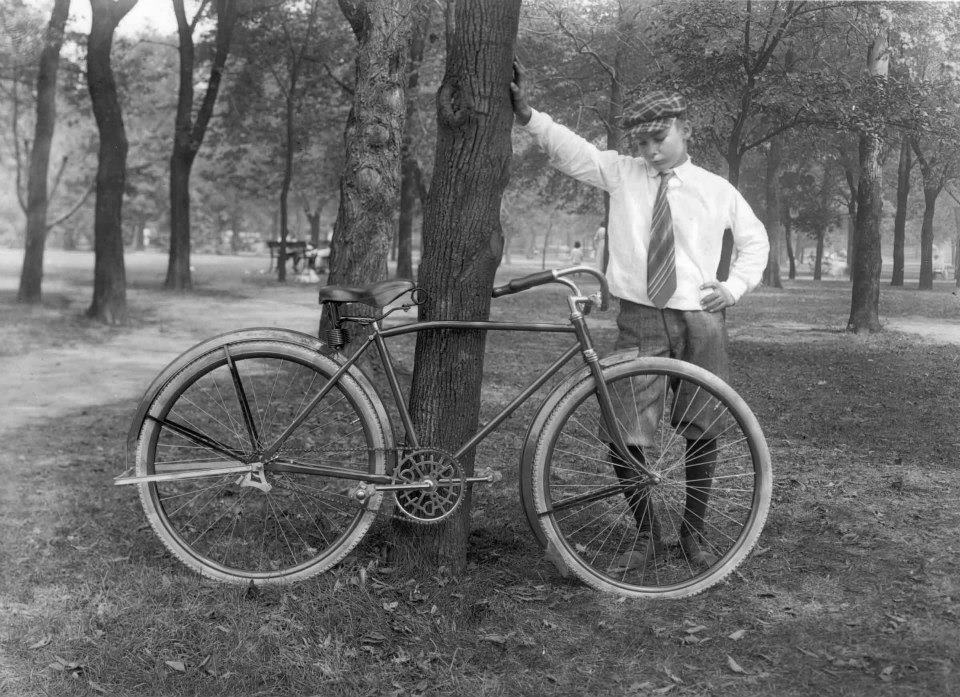 antique harley davidson bicycle photograph - dave's vintage bicycles
