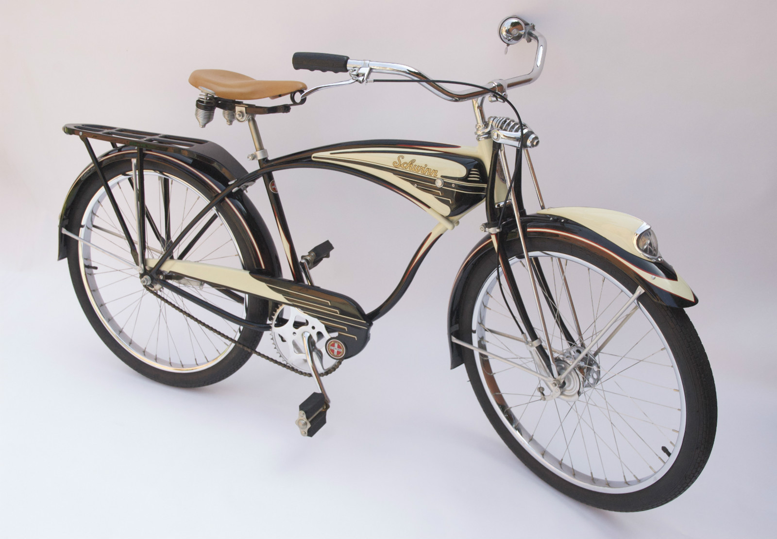 1948 Schwinn B6 Autocycle - Dave\'s Vintage Bicycles