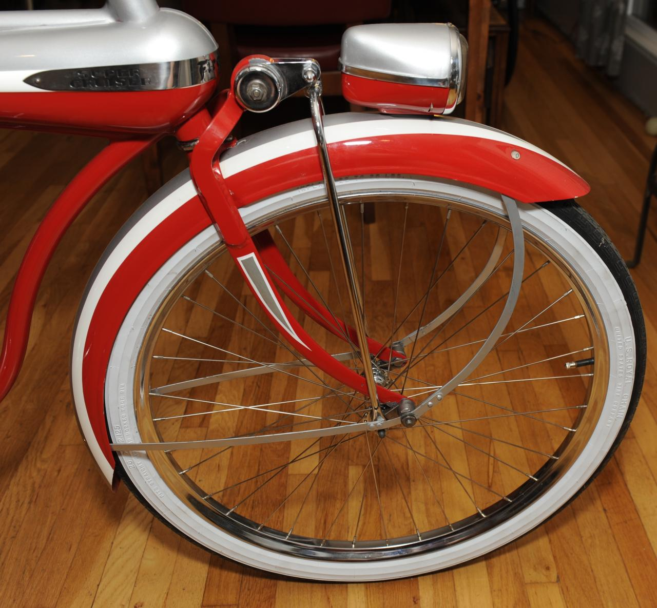 1941 Colson Bullnose Red Silver 03 Dave S Vintage Bicycles