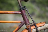 1919 Flying Merkel - Head Tube Area with badge and fork crown