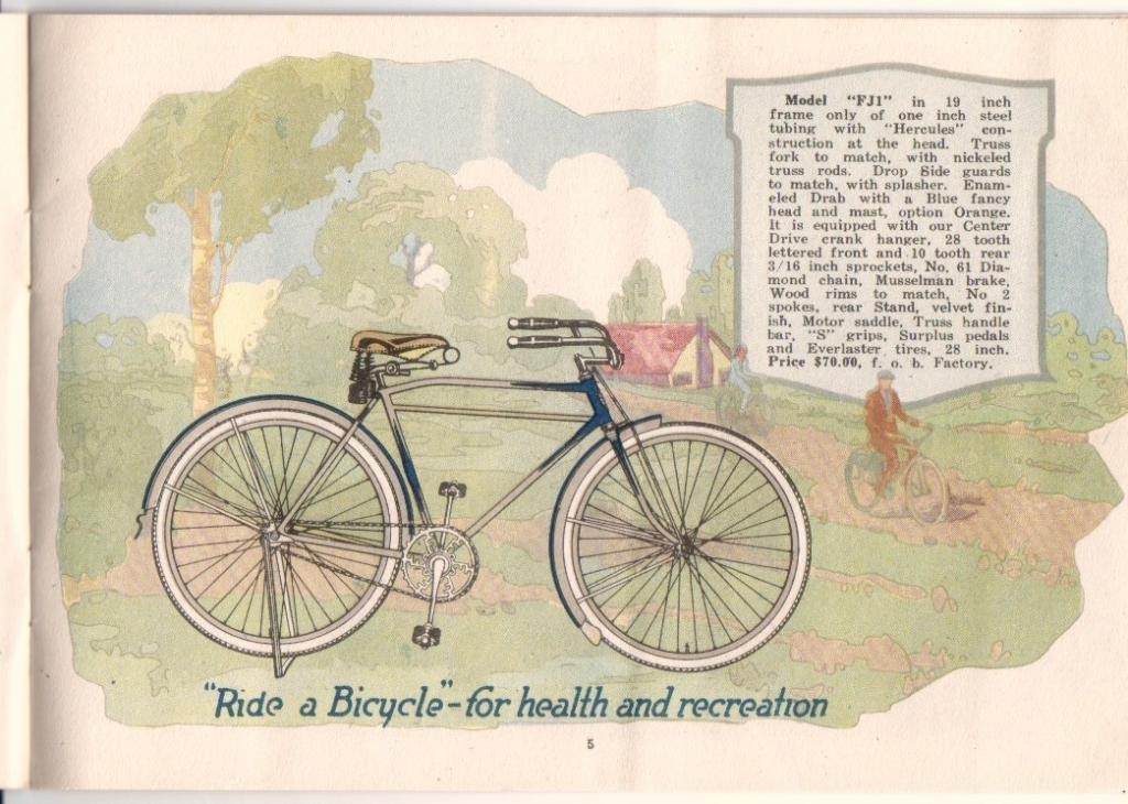 1921 Flying Merkel Bicycle Catalog Page
